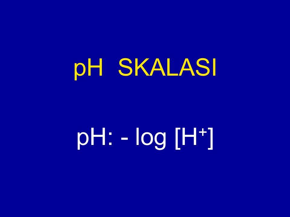 pH SKALASI pH: - log [H+]